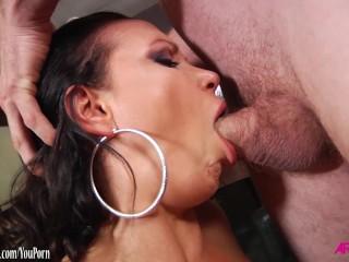 Busty loving hard anal sex