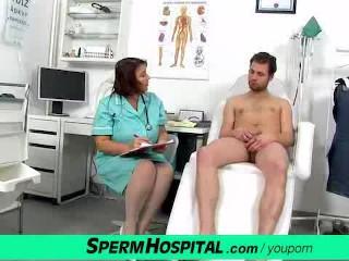 Fat lady eva cfnm jerking off
