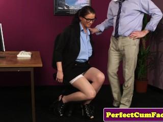 Brunette secretary...