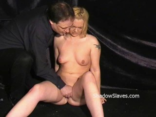 Blonde debutant submissive Donnas pussy whipping and erotic domination of kinky fetish babe