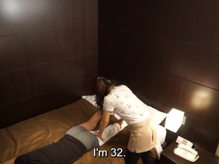 Japanese hotel massage gone wrong subtitled...