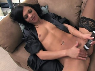 mandy-masturbating-on-the-phone-in-black-nylon