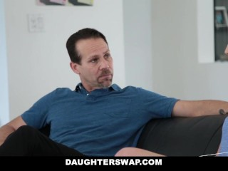 Daughterswap daughters play fuck dads...