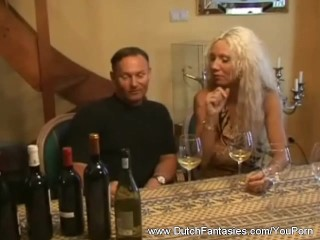Old Dutch Blonde Whore On Couch...