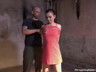 Ally Style bound gagged whipped vibed...