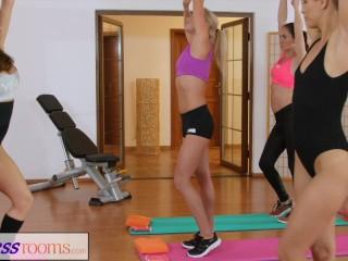 Fitnessrooms make cum after gym class...