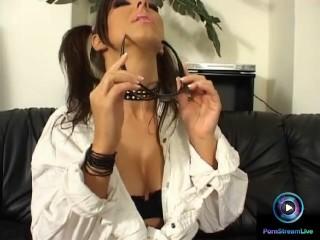 Gorgeous brunette Maria Belucci solo masturbation